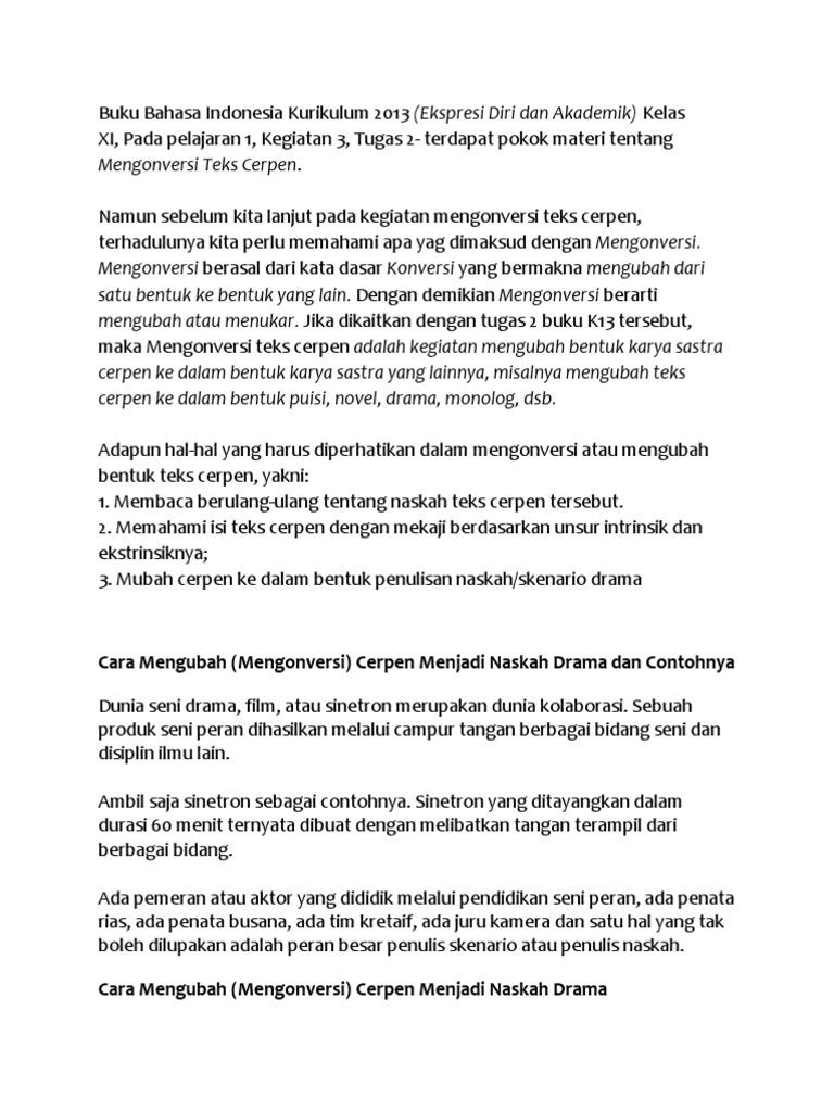 Buku Bahasa Indonesia Kurikulum 2013