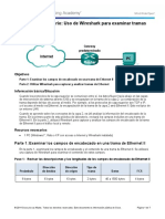 5.1.4.3 Lab - Using Wireshark to Examine Ethernet Frames