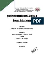 Clasificación de Bonos y Acciones