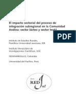 El impacto sectorial del proceso de integración subregional en la Comunidad Andina- sector lácteo y sector textil (1)