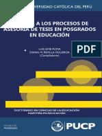 Aportes a Los Procesos de Asesoría de Tesis en Posgrados en Educación