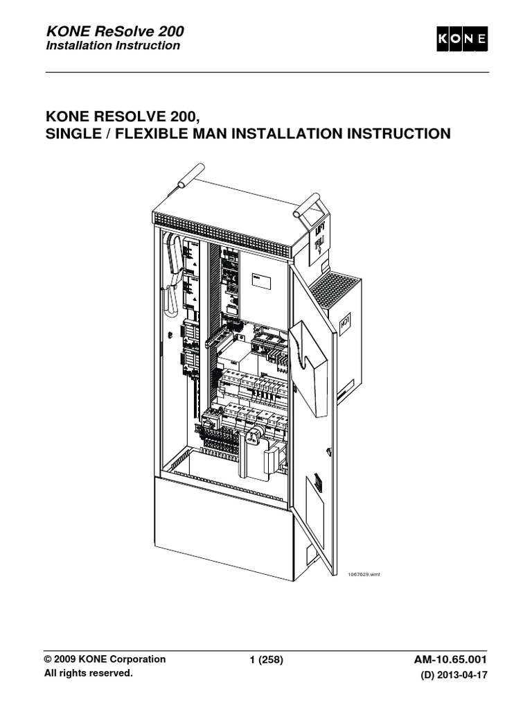 am 01 01 300 main en a 1 elevator manufactured goods rh es scribd com kone lift service manual kone lift maintenance manual