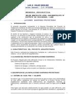 Memoria Descriptiva - Edificio Multifamiliar Bertoloto