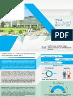 IIM Raipur Final Placement Report