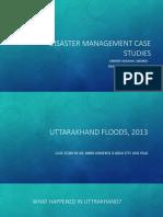 Disaster Management Case Studies