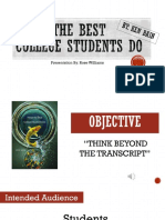 what the best college students do presentation