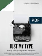 Vintage Black and White Typewriter Poster