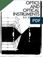 Optics and Optical Instruments - Johnson