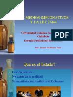 Los Recursos administrativos.