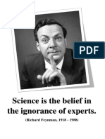 Science is the belief in the ignorance of experts.docx