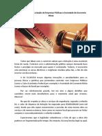Novos Aspectos Na Licitação de Empresas Públicas e Sociedade de Economia Mista