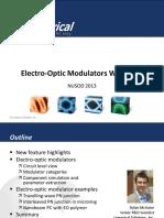 Lumerical Electro Optic Modulators Nusod 2013