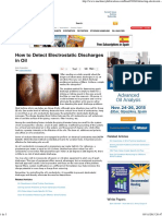 How to Detect Electrostatic Discharges in Oil