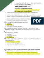 Cuestionario Plan 2011 Con RESPUESTAS