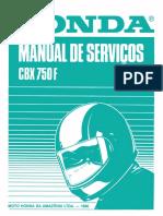 Manual de Serviço CBX 750F