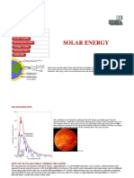 SOLAR ENERGY Irradiation and Power
