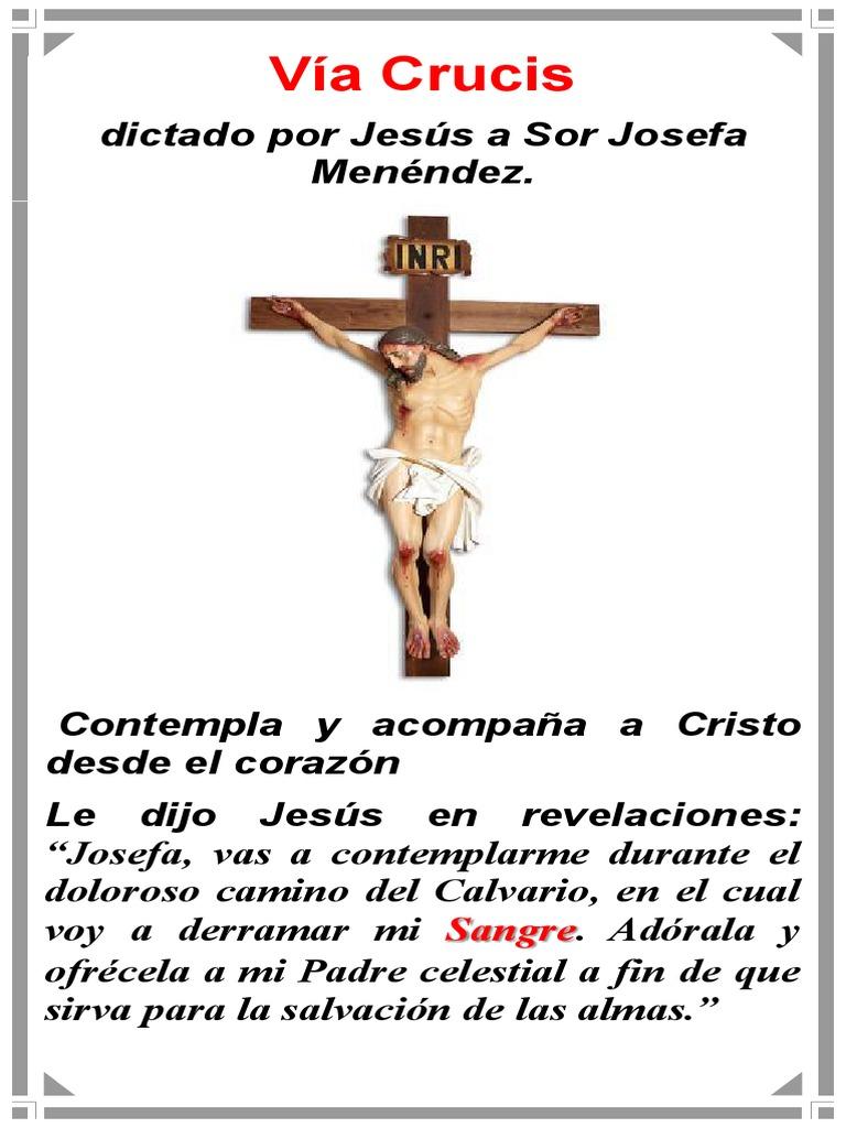 32d6b0d56c0 Via Crucis Dictado a Sor Josefa Menendez - Para Dispositivo Móvil