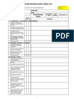 Process Audit Check List