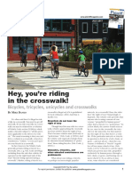 Hey Youre Riding in the Crosswalk Plaintiff Magazine