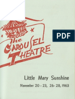 Little Mary Sunshine Theatre Program