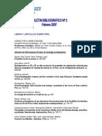 Boletin Bibliografico 02 2007