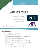 Kent Academic Writing Autumn 2016