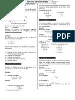 Sistema de Ecuaciones Lineales Con Dos Variables