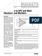 Introduction to SPC and Weld Checkers and Monitors