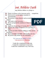 smu student athlete oath