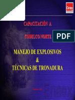 Manejo de Explosivos y Tecnicas de Tronadura CODELCO