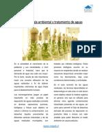 Biotecnología ambiental y tratamiento de aguas