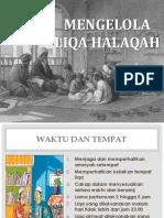Materi 6 -- Mengelola Liqa Halaqah