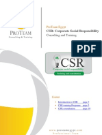CSR Consulting and Training Proposal (ProTeam, 21.7.2010)