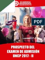 Prospecto Admisión UNCP 2017 - II