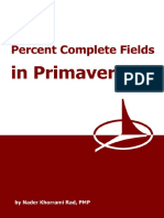 Primavera P6 Percent Complete Fields