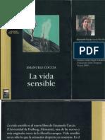 COCCIA Emanuele LA Vida Sensible
