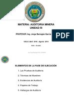Auditoria Unidad minera  III