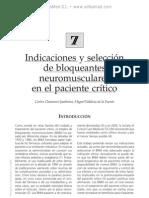 Indicaciones y selec de bloqueantes neuromusc en pac cri¦üt