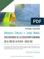 Mariquita Sanchez y Juana Manso Precursoras BOCA de SAPO