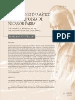 EL MONÓLOGO DRAMÁTICO EN LA ANTIPOESÍA DE NICANOR PARRA