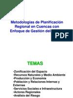 5.0 Planificación Regional en Cuencas