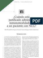 Administracio¦ün justificada de inmunomoduladores a un paciente con NCG