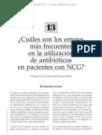 Errores ma¦üs frecuentes en la utilizacio¦ün de antibio¦üticos en pacientes con NCG