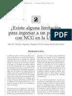 Limitacio¦ün para ingresar a un paciente con una NCG en la UCI