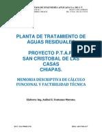 memoria descriptiva y de calculo funcional ptar.pdf