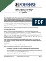 Law of Self Defense LEVEL 1 CLE TN Syllabus 180519 v170730
