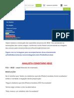 Raciocínio Lógico IBGE - Prova Resolvida e Gabarito Extraoficial
