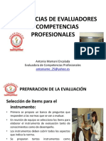 Experiencias de Evaluadores de Competencias Profesionales
