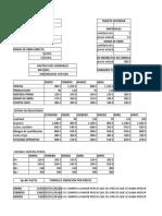 Coste Estandar Excel