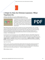 3 ways to plan for diverse learners